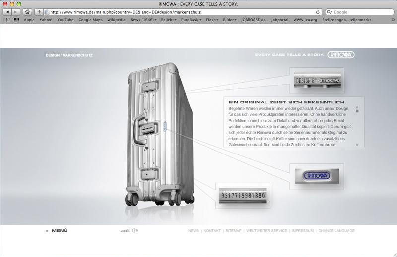 Rimowa Homepage