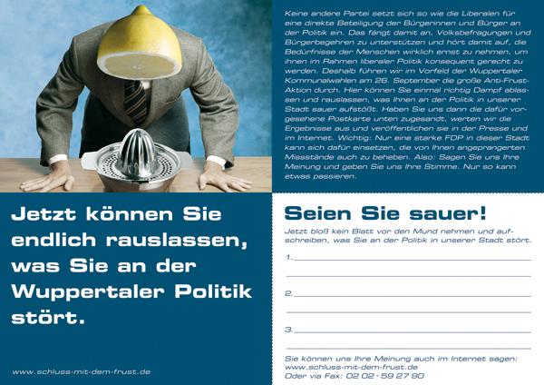 FDP Wahlkampf Flyer