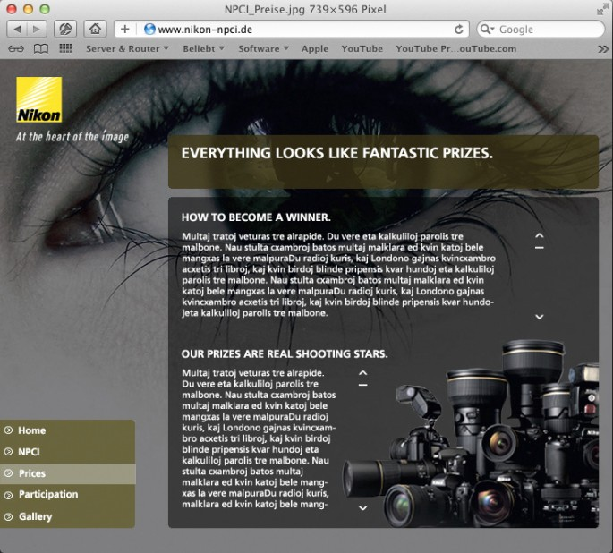www Nikon-Photokina Preise