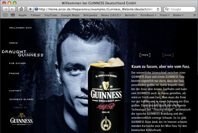 Guinness Homepage