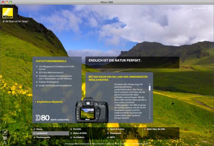 Nikon D80 Microsite